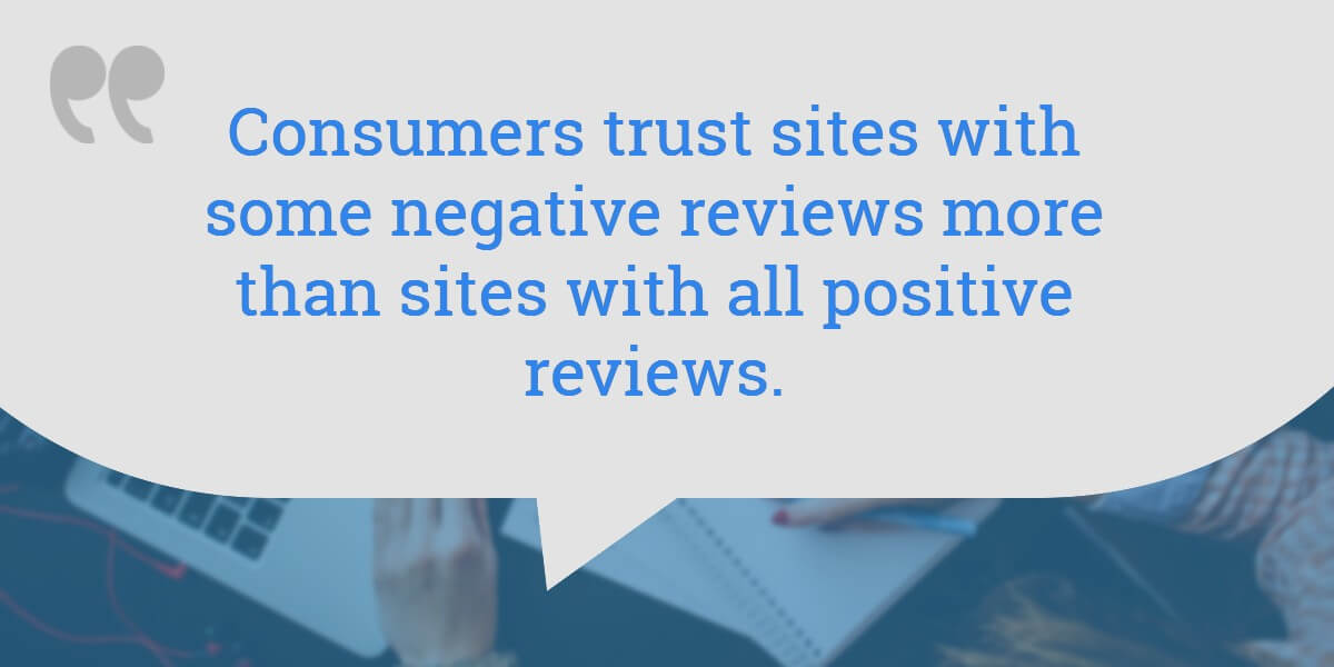 Quote: show positive and negative reviews